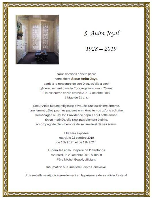 S. Anita Joyal 17-10-2019